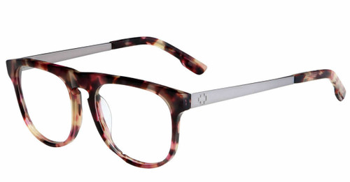Spy+ Rx Designer Eyeglasses Maxwell in Cherrywood-Gun :: Progressive