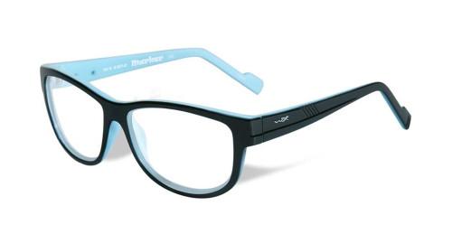 Wiley-X Marker Optical Eyeglass Collection in Gloss-Black-Sky-Blue (WSMAR05) :: Progressive