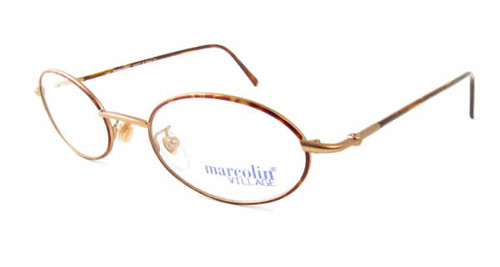 Marcolin 6454 Metal Reading Glasses in Gold 48 mm