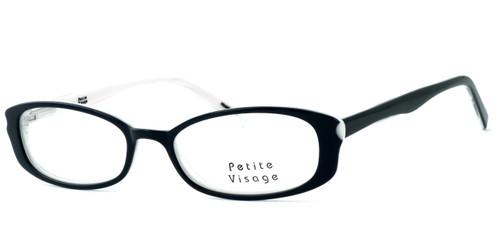 Visage Petite Designer Eyeglasses 102 in Tuxedo :: Progressive