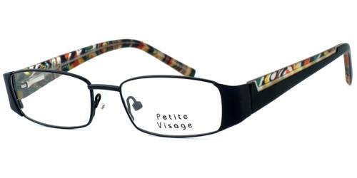 Visage Petite Designer Eyeglasses 100 in Black :: Progressive
