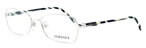Versace 1192-1000 Designer Eyeglasses in Silver :: Progressive