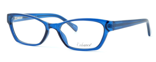 Enhance Optical Designer Eyeglasses 3903 in Cobalt :: Progressive