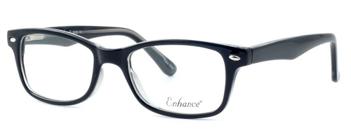 Enhance Optical Designer Eyeglasses 3926 in Black-Crystal :: Progressive
