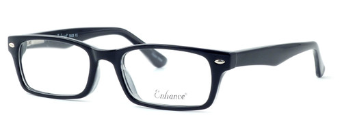 Enhance Optical Designer Eyeglasses 3928 in Black-Crystal :: Progressive