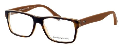 Emporio Armani Designer Eyeglasses EA3059-5391 in Havana Brown :: Progressive
