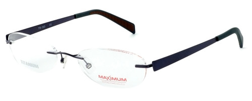 Totally Rimless Designer Eyeglasses TR163-CBT in Gunmetal :: Progressive