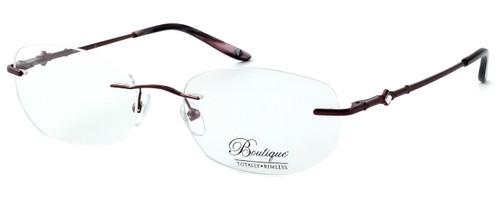 Totally Rimless Designer Eyeglasses TR164-DBG in Deep Burgundy :: Progressive