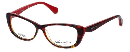 Kenneth Cole Designer Eyeglasses KC0202-054 in Red-Tortoise :: Progressive