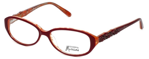 Guess by Marciano Designer Eyeglasses GM153-BRNOR in Red :: Progressive
