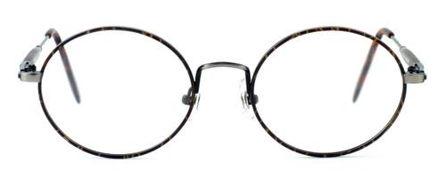 Regency International Designer Eyeglasses Prep in Dark Amber & Antique Silver 46mm :: Progressive
