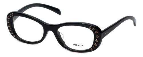Prada Designer Eyeglasses VPR21R-1AB1O1 in Black 51mm :: Progressive