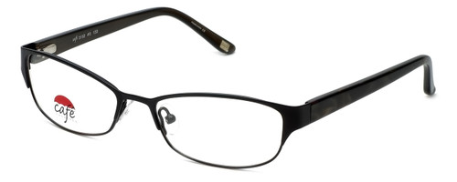 Silver Dollar Designer Eyeglasses Café 3152 in Ebony 52mm :: Progressive
