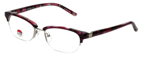 Silver Dollar Designer Eyeglasses Café 3194 in Fuschia Marble 52mm :: Progressive
