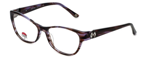 Silver Dollar Designer Eyeglasses Café 3201 in Brown Lilac 53mm :: Progressive