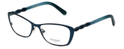 Vera Wang Designer Eyeglasses Spica in Teal 50mm :: Progressive