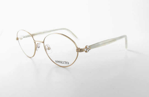 Assoluto Designer Eyeglasses EU58 in White-Marble :: Rx Bi-Focal