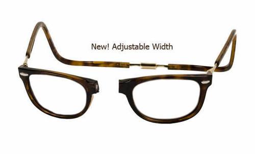 Clic Designer Eyeglasses Ashbury Style in Tortoise 'Wide Fit' :: Rx Bi-Focal