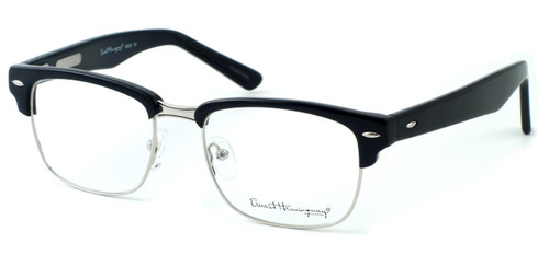 Ernest Hemingway Eyewear Collection 4629 in Gloss Black & Silver :: Rx Bi-Focal