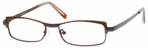 Marc Hunter Designer Eyeglasses 7224 in Matte-Brown :: Rx Bi-Focal
