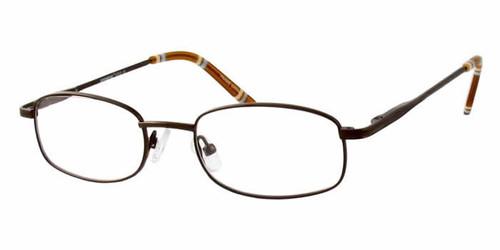 Seventeen Designer Eyeglasses 5305 in Brown :: Rx Bi-Focal