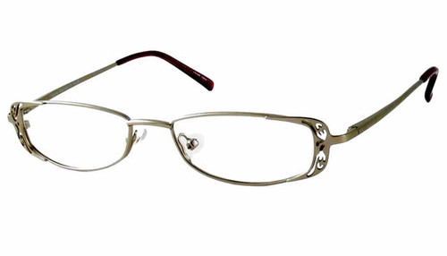 Valerie Spencer Designer Eyeglasses 9118 in Silver :: Rx Bi-Focal