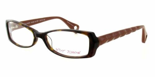 Betsey Johnson Designer Eyeglasses Brilliance in Espresso :: Rx Bi-Focal