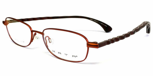 Kata Designer Eyeglasses 121 Ribbon in Pumpkin :: Rx Bi-Focal