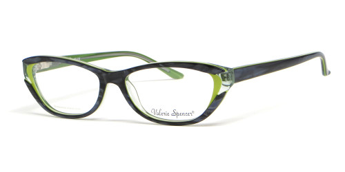 Valerie Spencer 9272 in Forest Designer Eyeglasses :: Rx Bi-Focal