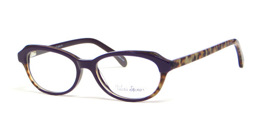 Valerie Spencer 9302 in Purple Tortoise Designer Eyeglasses :: Rx Bi-Focal