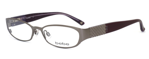bebe Womens Designer Eyeglasses 5019 in Smoky :: Rx Bi-Focal