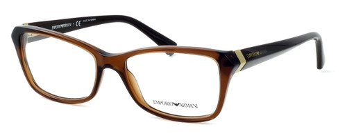 Emporio Armani Designer Eyeglasses EA3023-5198 in Brown :: Rx Bi-Focal