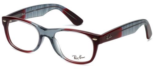 Ray-Ban Designer Eyeglasses RB5184-5517 in Red-Fade 50mm :: Rx Bi-Focal