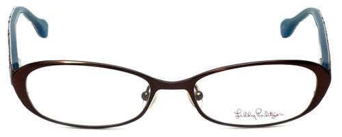 Lilly Pulitzer Designer Eyeglasses Callahan in Brown 50mm :: Custom Left & Right Lens
