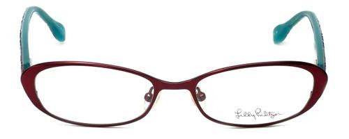 Lilly Pulitzer Designer Eyeglasses Callahan in Burgundy 50mm :: Custom Left & Right Lens