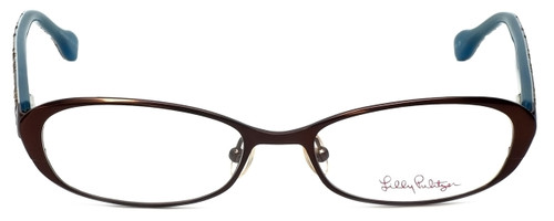 Lilly Pulitzer Designer Eyeglasses Callahan in Brown 50mm :: Rx Single Vision