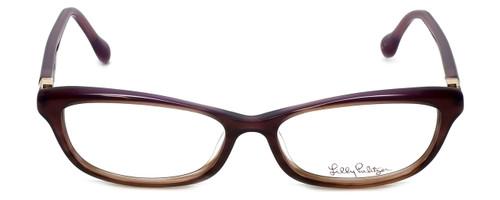 Lilly Pulitzer Designer Eyeglasses Adelson in Plum  53mm :: Progressive