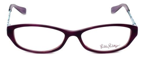 Lilly Pulitzer Designer Eyeglasses Avaline in Plum 53mm :: Progressive