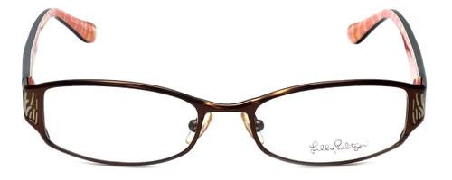Lilly Pulitzer Designer Eyeglasses Cassidie in Brown 52mm :: Progressive