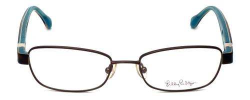 Lilly Pulitzer Designer Eyeglasses Collins in Brown 50mm :: Progressive