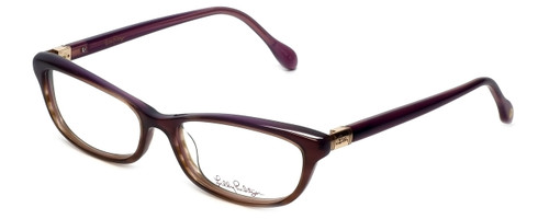 Lilly Pulitzer Designer Eyeglasses Adelson in Plum  53mm :: Rx Bi-Focal