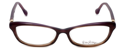 Lilly Pulitzer Designer Eyeglasses Adelson in Plum  53mm :: Rx Bi-Focal
