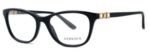 Versace Designer Eyeglasses 3213B in Black (GB1)