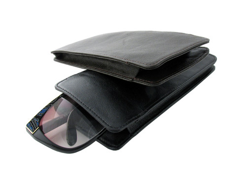 25c88d11061 Large Designer Soft Eyeglass Case   Vinyl-Flap Closure - Speert ...