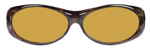 Jonathan Paul® Fitovers Eyewear Small Aurora in Brown-Marble & Yellow AR008Y