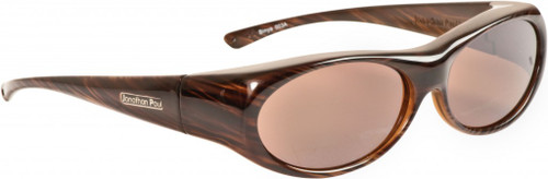 Jonathan Paul® Fitovers Eyewear Small Binya in Brown-Feather & Amber BN003A