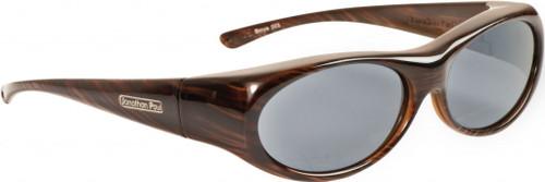 Jonathan Paul® Fitovers Eyewear Small Binya in Brown-Feather & Gray BN003