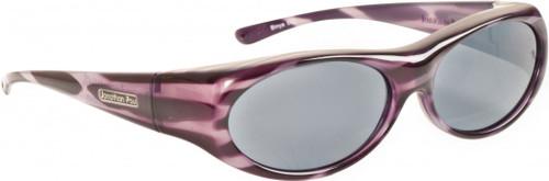 Jonathan Paul® Fitovers Eyewear Small Binya in Purple-Zebra & Gray BN002