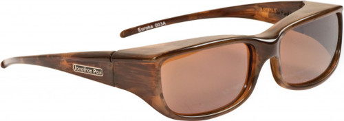 Jonathan Paul® Fitovers Eyewear Small Euroka in Brown-Marble & Amber EU003A