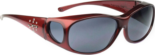 Jonathan Paul® Fitovers Eyewear Medium Element in Claret & Gray EM004S
